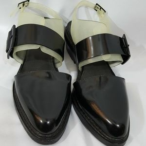 3.1 Phillip Lim Cristobal black and clear shoe
